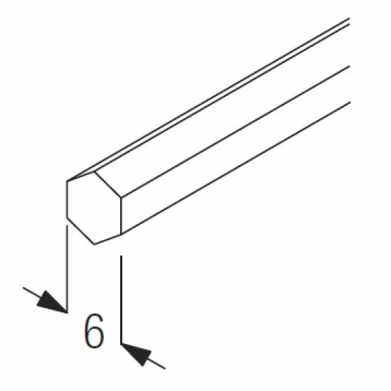 Hexagonal bar (6 metre length only)