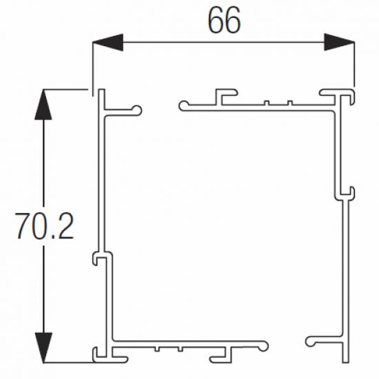 2151 Rail ONLY Silver (per metre)