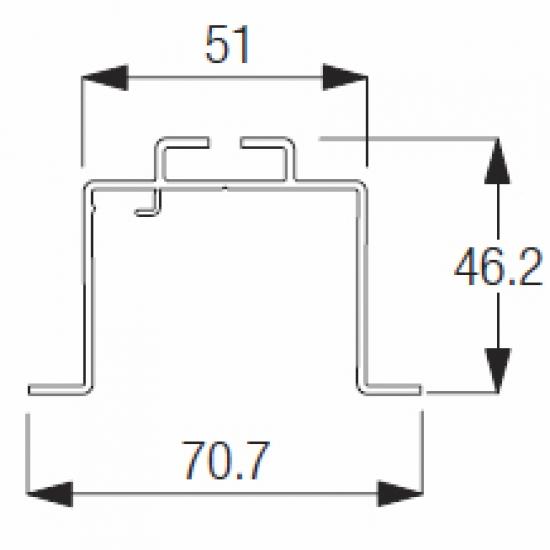 2948 Recess Rail ONLY (per metre)