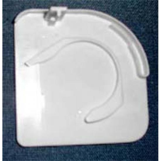 Pelmet endcap, right, white