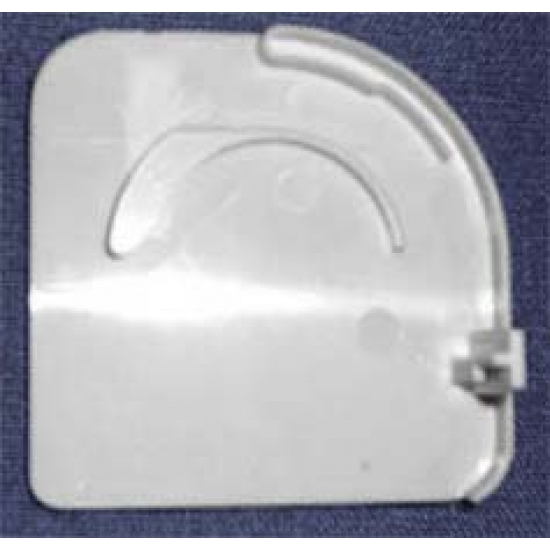 Pelmet endcap, left, white