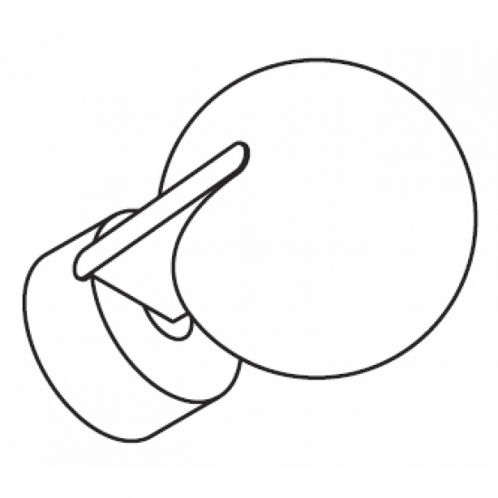 Fused Ball 84mm Finial for 50mm pole (Each)