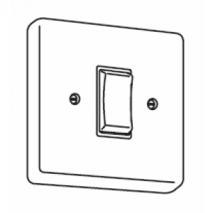 Latching switch white only