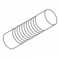 Groove cylinder 80mm Finial for 23mm pole (Each)