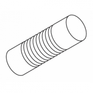 Groove cylinder 125mm Finial for 50mm pole (Each)