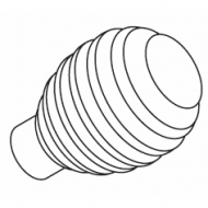 Groove Ball 85mm Finial for 23mm pole (Each)