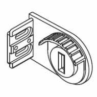 Metal Bracket, wall, right (46mm)