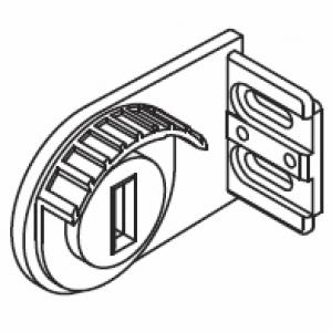 Metal Bracket, wall, left (46mm)