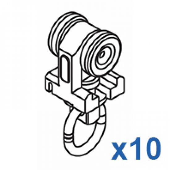 Two component roller (Pack of 10)