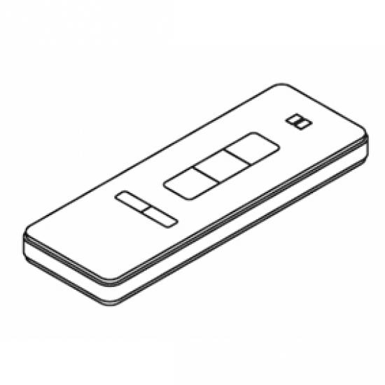Radio hand-held transmitter, White, 2 channel (Each)