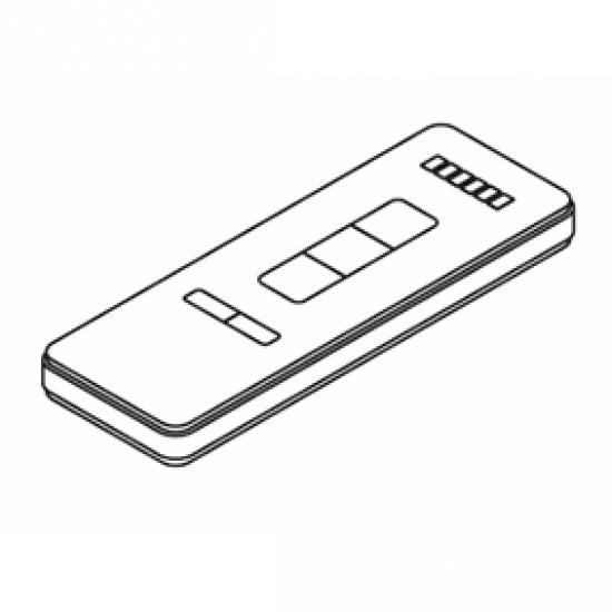 Radio hand-held transmitter, White, 6 channel (Each)