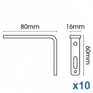 Smart fix 80mm Bracket only in White and Silver (pack of 10)
