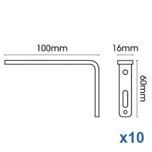 Smart fix 100mm Bracket only in White and Silver (pack of 10)