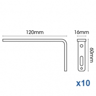 Smart fix 120mm Bracket only in White and Silver (pack of 10)
