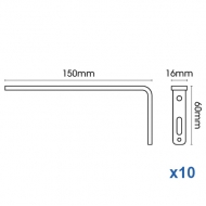 Smart fix 150mm Bracket only in White and Silver (pack of 10)