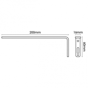 Smart fix 200mm Bracket only in White and Silver (Each)