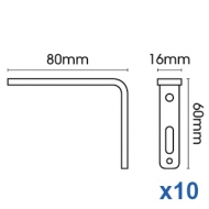 Smart fix 80mm Bracket Slotted for Metropole & Metroflat (pack of 10)
