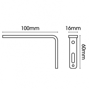 Smart fix 100mm Bracket only, Slotted for Metropole & Metroflat (Each)