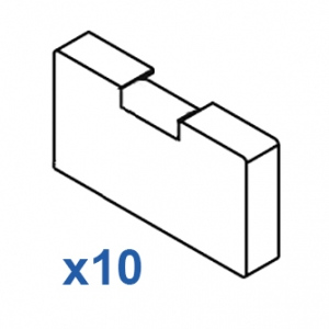 Square Smart fix Bracket Cover with Magnet (pack of 10)