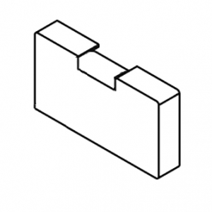 Square Smart fix Bracket Cover with Magnet (Each)