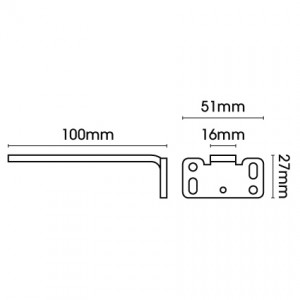 Square Smart fix 100mm Bracket only in White and Silver (Each)