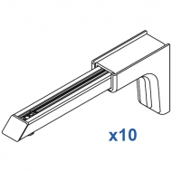 Universal Smart fix 150mm Bracket in White and Silver (pack of 10)