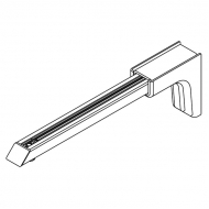 Universal Smart fix 200mm Bracket in White and Silver (Each)
