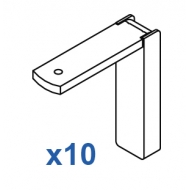 Smart fix 60mm Bracket Set in White and Silver (pack of 10)  (made up of parts 11118 +11116)