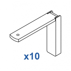 Smart fix 80mm Bracket Set in White and Silver (pack of 10) (made up of parts 11119 +11116)