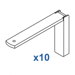 Smart fix 100mm Bracket Set in White and Silver (pack of 10) (made up of parts 11120 +11116)