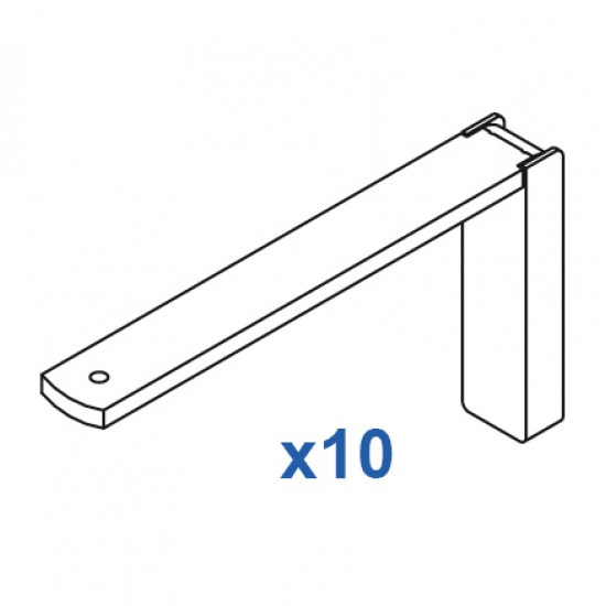 Smart fix 120mm Bracket Set in White and Silver (pack of 10) (made up of parts 11121 +11116)