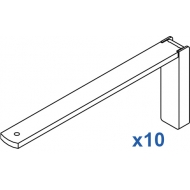 Smart fix 150mm Bracket Set in White and Silver (pack of 10) (made up of parts 11122 +11116)