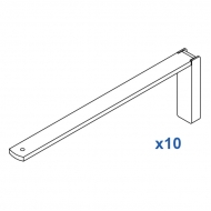 Smart fix 200mm Bracket Set in White and Silver (pack of 10) (made up of parts 11123 +11116)