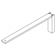 Smart fix 200mm Bracket Set in White and Silver (Each) (made up of parts 11123 +11116)