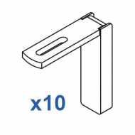 Smart fix 80mm Bracket Set Slotted for Metropole & Metroflat (pack of 10) (made up of parts 11125 + 11116)
