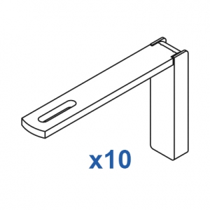 Smart fix 100mm Bracket Set Slotted for Metropole & Metroflat (pack of 10) (made up of parts 11126 + 11116)