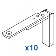 Smart fix Adjustable Bracket Set Slotted for Metropole & Metroflat (pack of 10) (made up of parts 11128 + 11116)