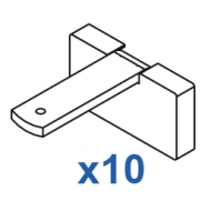 Square Smart fix 60mm Bracket Set in White and Silver (pack of 10) (made up of parts 11139 + 11137)