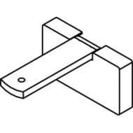 Square Smart fix 80mm Bracket Set in White and Silver (Each) (made up of parts 11140 + 11137)