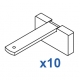 Square Smart fix 80mm Bracket Set in White and Silver (pack of 10) (made up of parts 11140 + 11137)