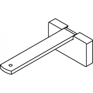 Square Smart fix 100mm Bracket Set in White and Silver (Each) (made up of parts 11141 + 11137)
