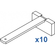 Square Smart fix 120mm Bracket Set in White and Silver (pack of 10) (made up of parts 11142 + 11137)