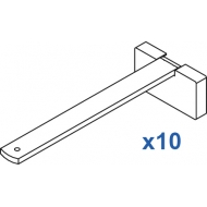 Square Smart fix 150mm Bracket Set in White and Silver (pack of 10) (made up of parts 11143 + 11137)