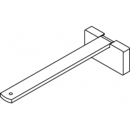 Square Smart fix 150mm Bracket Set in White and Silver (Each) (made up of parts 11143 + 11137)