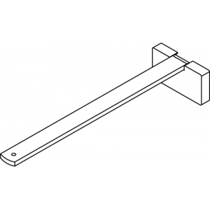 Square Smart fix 200mm Bracket Set in White and Silver (Each) (made up of parts 11144 + 11137)