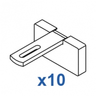 Square Smart fix 60mm Bracket Set Slotted for Metropole & Metroflat (pack of 10) (made up of parts 11145 + 11137)
