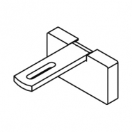 Square Smart fix 60mm Bracket Set Slotted for Metropole & Metroflat (Each) (made up of parts 11145 + 11137)