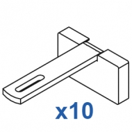Square Smart fix 80mm Bracket Set Slotted for Metropole & Metroflat (pack of 10) (made up of parts 11146 + 11137)