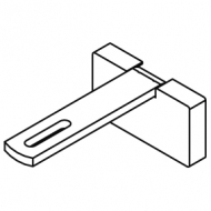 Square Smart fix 80mm Bracket Set Slotted for Metropole & Metroflat (Each) (made up of parts 11146 + 11137)