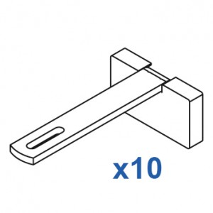Square Smart fix 100mm Bracket Set Slotted for Metropole & Metroflat (pack of 10) (made up of parts 11147 + 11137)